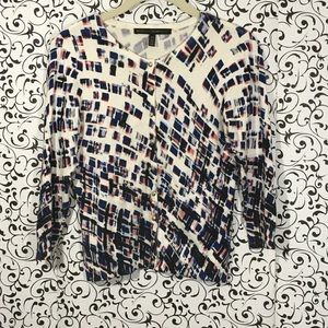 White House Black Market Abstract Cardigan